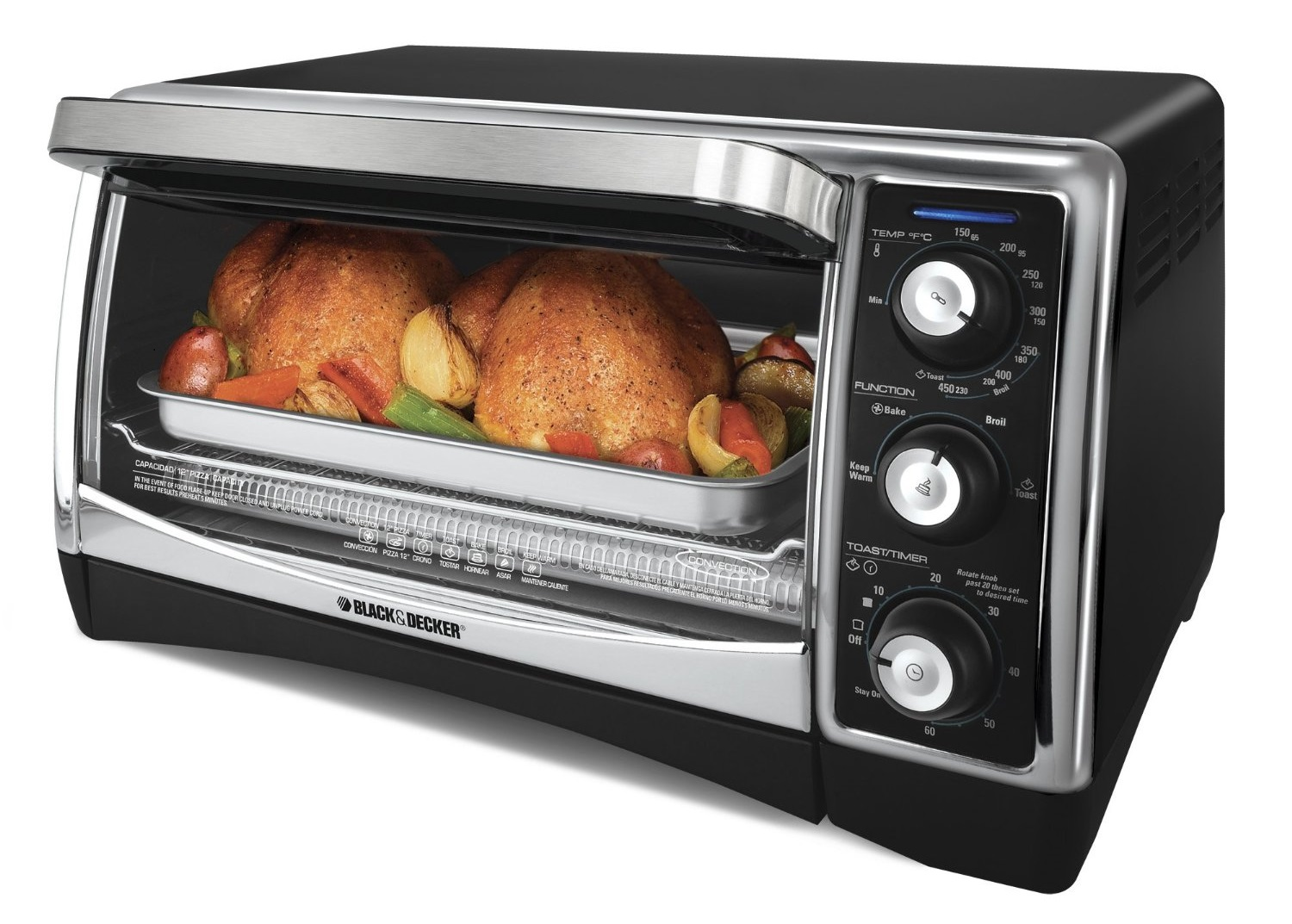 Black Amp Decker To1640b 6 Slice Toaster Oven